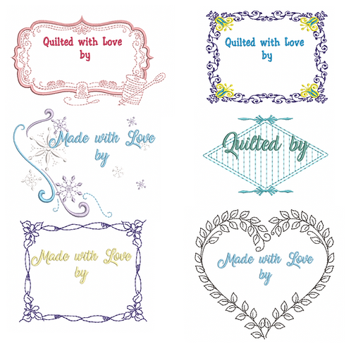 6 Personalized Quilt Labels