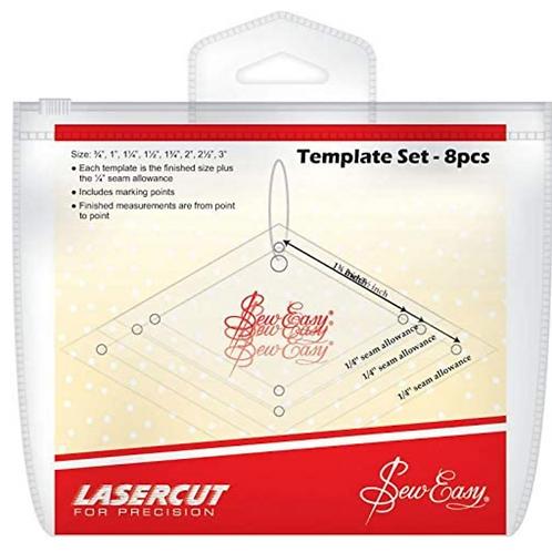 Sew Easy Patchwork Mini Diamonds Template Set