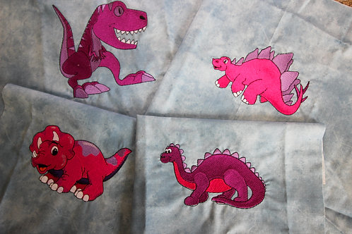"8"" Dinosaur Embroidered Blocks-5 Pieces"