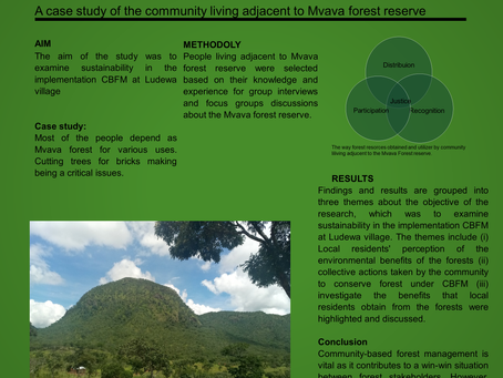 Community engagement in the conservation of the village forests in Ludewa District, Tanzania