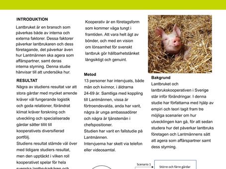Framtidens lantbrukskooperativ Svenska lantbruket 2030 och Lantmännens roll