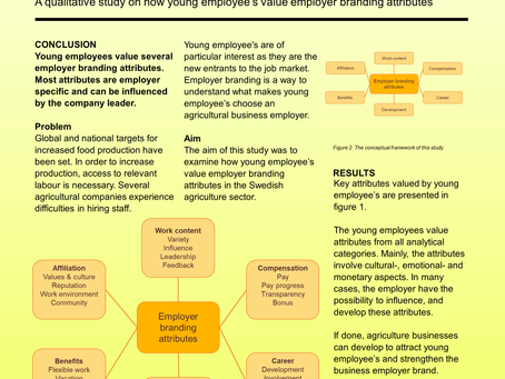 Attributes of employer branding in agri-businesses