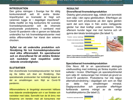 Hur påverkas svenska lantbruk av Covid-19 pandemin?