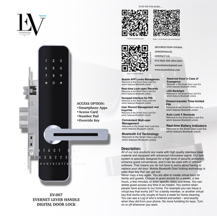 Everlock SCN Digital Door Lock EV007