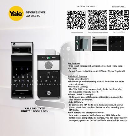 Yale Digital Door Lock YDR4110+