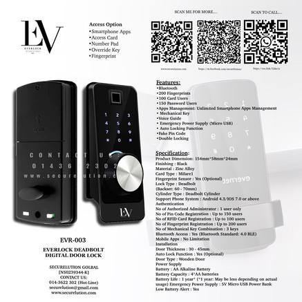 Everlock Digital Door Lock EVR003