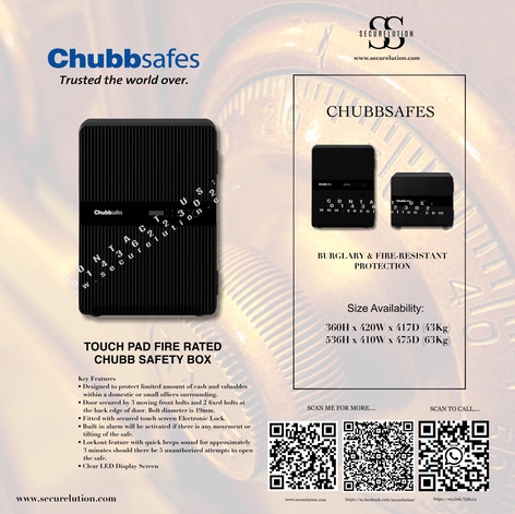 Chubb naomi safety box (Black)