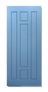 solid timber door norm 12 baby blue