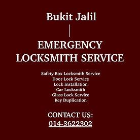 Bukit Jalil Emergency Locksmith Service