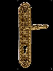 Antique Design Solid Brass On Plate Lever Handle LBR011