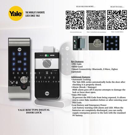 Yale Digital Door Lock YDR3110+