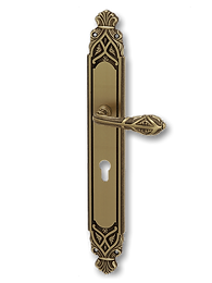 Antique Design Solid Brass On Plate Lever Handle MTRS011