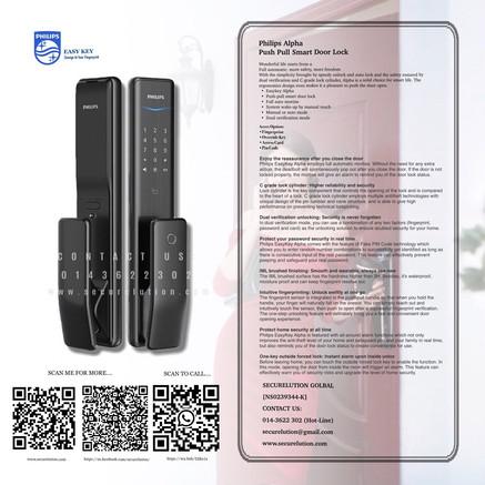Philips Push Pull Digital Door Lock Alpha Series