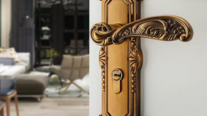 Solid Brass Door Handle On Back Plate MOBILE MBAOP1 (Kuala Lumpur)