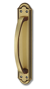 Solid Brass On Plate Pull Handle IRZPH001