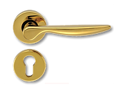 Solid Brass On Rose Lever Handle FRS017