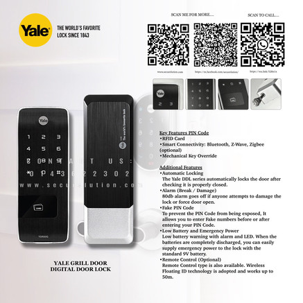 Yale Digital Door Lock YDR30G