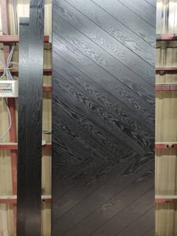 Dark Wood Solid Timber Door