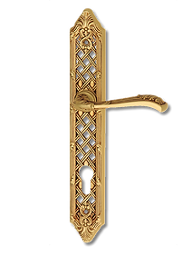Antique Design Solid Brass On Plate Lever Handle LBR001