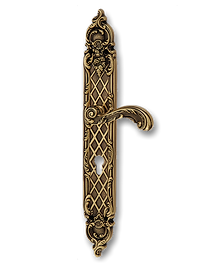 Antique Design Solid Brass On Plate Lever Handle MTRS009