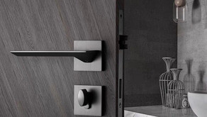 Matt Black Slim Design Lever Handle Door Lock (Kuala Lumpur) Novosom