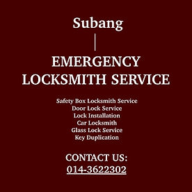 Subang Emergency Locksmith Service