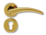 Solid Brass On Rose Lever Handle FRS005
