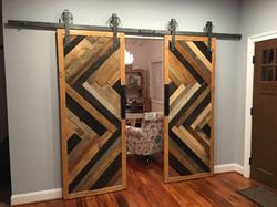 Solid Decorative Sliding Door