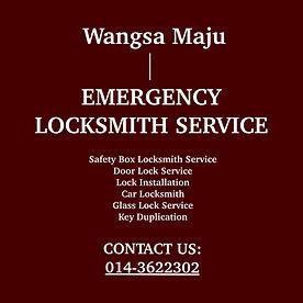 Wangsa Maju  Emergency Locksmith Service