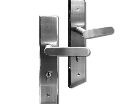 BACK PLATE LEVER MORTISE LOCK (Stainless Steel)