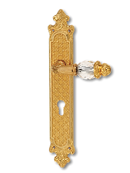 Antique Design Solid Brass On Plate Lever Handle MTRS003