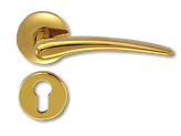 Solid Brass On Rose Lever Handle FRS010