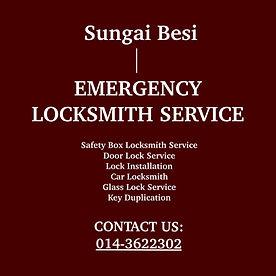 Sungai Besi  Emergency Locksmith Service