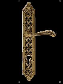 Antique Design Solid Brass On Plate Lever Handle LBR002