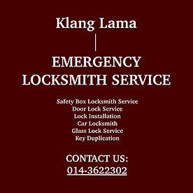 Klang Lama  Emergency Locksmith Service