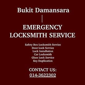 Bukit Damansara Emergency Locksmith Service