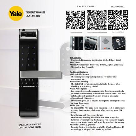 Yale Digital Door Lock YDM4109+