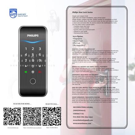 Philips RIm Type Digital Door Lock 515K