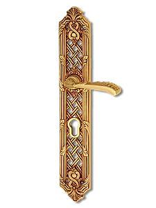 Antique Design Solid Brass On Plate Lever Handle LBR003