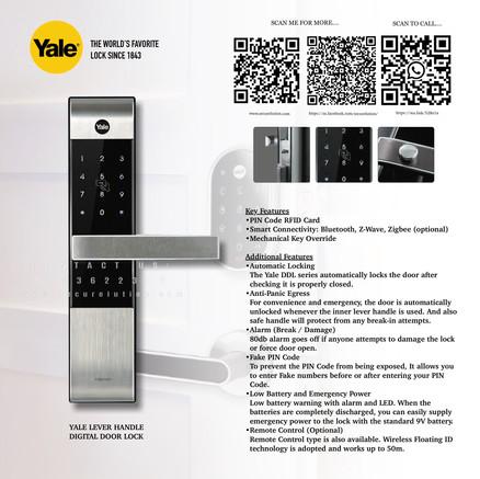 Yale Digital Door Lock YDM3109+