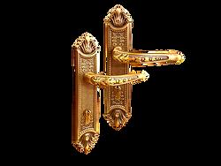 Mobile antique back plate lever handle mbaop6