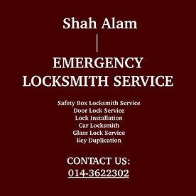 Shah Alam  Emergency Locksmith Service