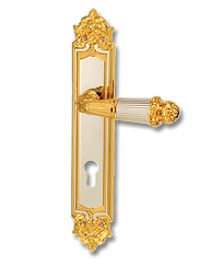 Antique Design Solid Brass On Plate Lever Handle MTRS004
