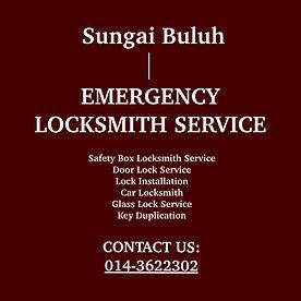 Sungai  Buluh Emergency Locksmith Service