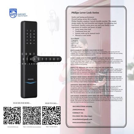 Philips Lever Handle Digital Door Lock 7300 Series