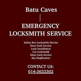 Batu Caves Emergency Locksmith Service
