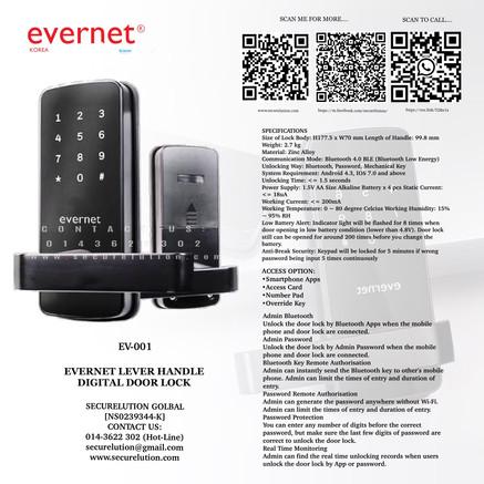 Evernet Digital Door Lock EV001