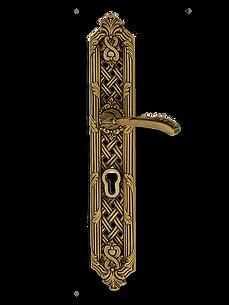 Antique Design Solid Brass On Plate Lever Handle LBR004