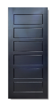 solid timber door midnight black