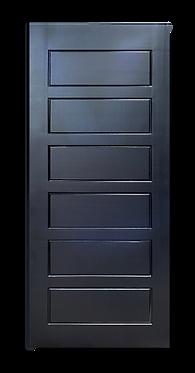 solid timber door midnight black